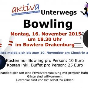 Aushang Bowling